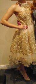 Stunning Chi Chi London Gold dress