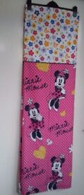 "Dunelm Mill Disney Minnie Mouse Black Out Lined Tape Top Curtains 66"" x 54"""