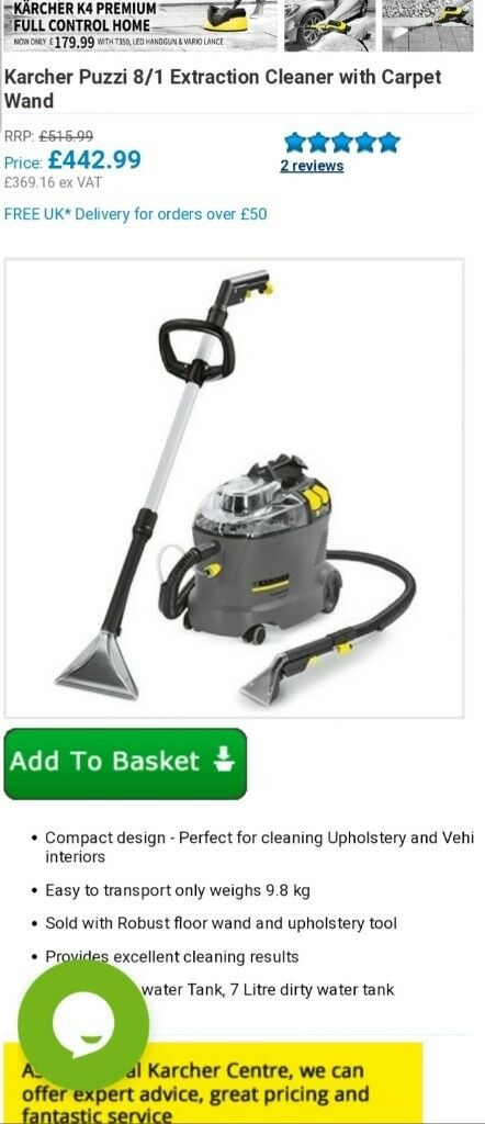 New carpet & upholstery cleaning machine