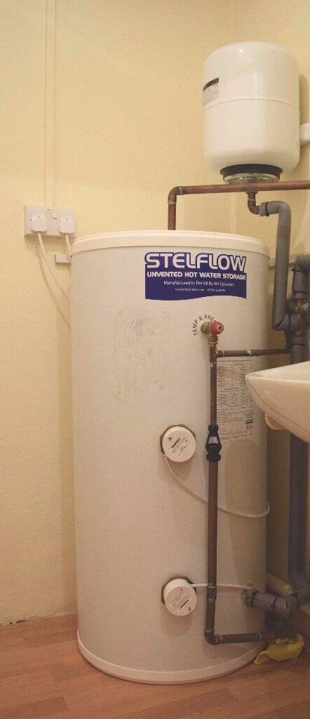 150 litre direct, unvented hot water cylinder. 6 months old, STILL ...