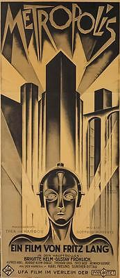 Metropolis 1927 Fritz Lang Vintage 3 Sheet Movie Poster Fine Art Lithograph S2