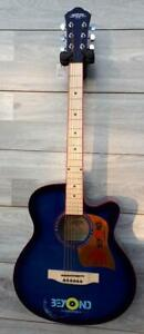 Acoustic Guitar 40 inch for Beginners Blue Unique style iMusic224