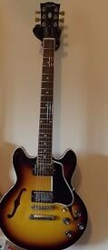 GIBSON ES 339 CUSTOM GUITAR CERTIFIED BY GIBSON PRE OWNED, IN MINT CONDITION WITH HARD CASE