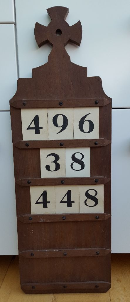 church hymn number board with numbers can be used as