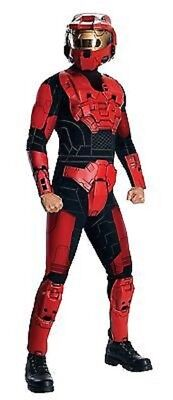Mens Adult Halo 3 Deluxe Red Spartan Master Chief Costume Outfit](Halo Master Chief Outfit)
