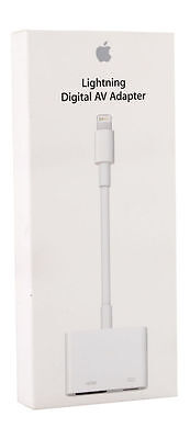 Genuine Apple Lightning Digital A/V Adapter MD826AM/A A1438 - White - New Other!