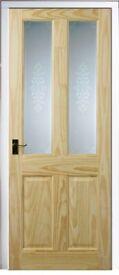 2 pine glass interior doors wanted