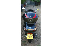 Piaggio MP3 250cc 1 lady owner Low mileage Excellent condition Top Box Screen Full History MOT 2018
