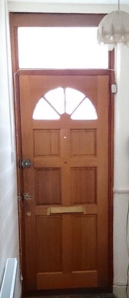 Hardwood Mahogany Georgian Style Front Door With Locks Keys And All