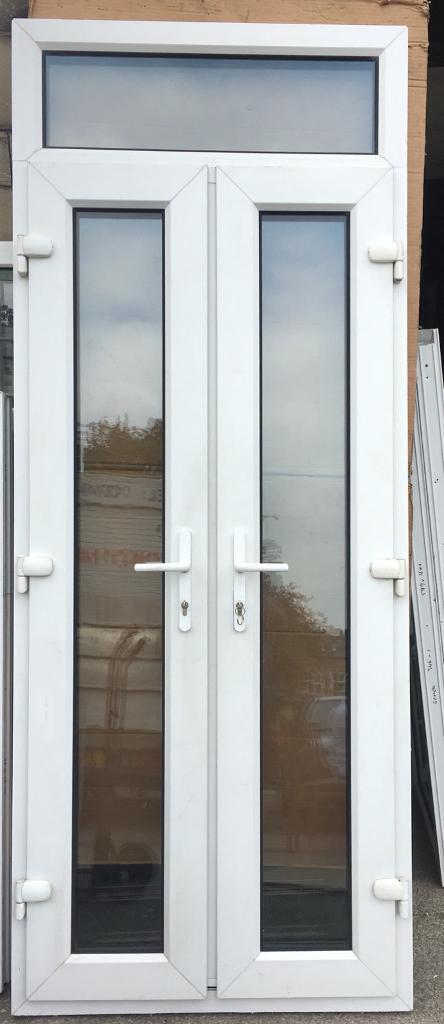 A Nice Small Set Of Upvc French Doors With Top Window Used