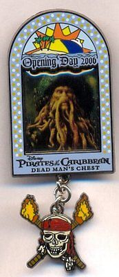Disney Pirates of the Caribbean Davy Jones Dead Man's Chest Opening Day LE Pin - Pirates Of The Caribbean Davy Jones Chest