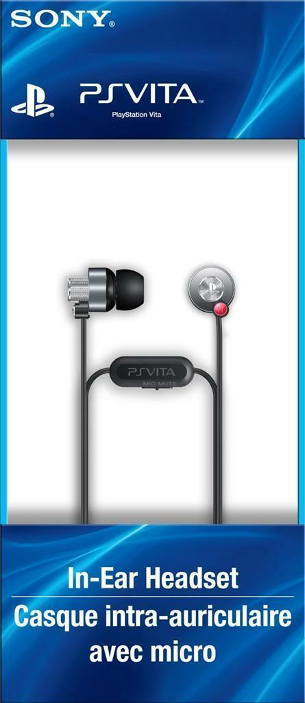 100% OFFICIAL NEW SONY PS VITA IN-EAR HEADSET EARBUD