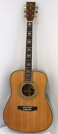 Exceptional replica of a Martin D45S 6-string electro-acoustic guitar – as good as the real thing?