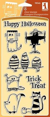 Inkadinkado Clear Stamps GHOULS & GOBLINS Happy Halloween Trick or - Happy Halloween Ghouls