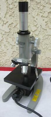 Vintage Olympus Elgeet Hsb Microscope W 4x 10x 40x Lens