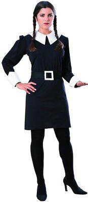 Damen Erwachsene Mittwoch Addams Family Kostüm