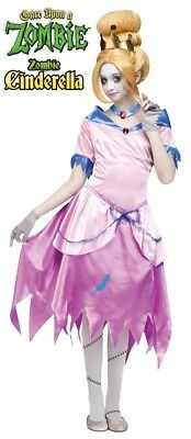 Girls Child Deluxe ZOMBIE CINDERELLA Once Upon a Zombie Licensed Costume