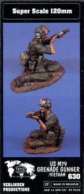 Verlinden 1:16 120mm US M79 Grenade Launcher in Vietnam Resin Figure Kit 630