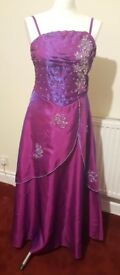 Prom/party dress in 2 tone purple/blue shade. Size 12. Good condition
