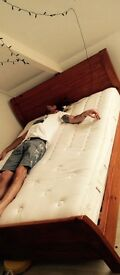 King size bed and mattress (model not included)