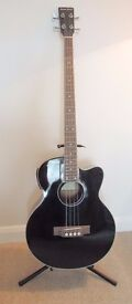 Electro-acoustic 4 string bass guitar, as new - never used.