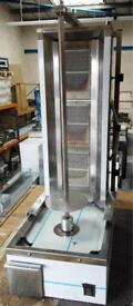 LPG 3 BURNER CANMAC DONER KEBAB MACHINE COMPACT, SLIM SIZE, BRAND NEW