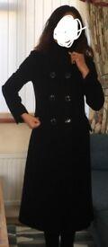 Ladies wool coat-black