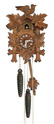 Bird 1 Day Cuckoo Clock - DOLD 1-16, 5 Leaves & 1 Bird, 1 Day German Cuckoo Clock