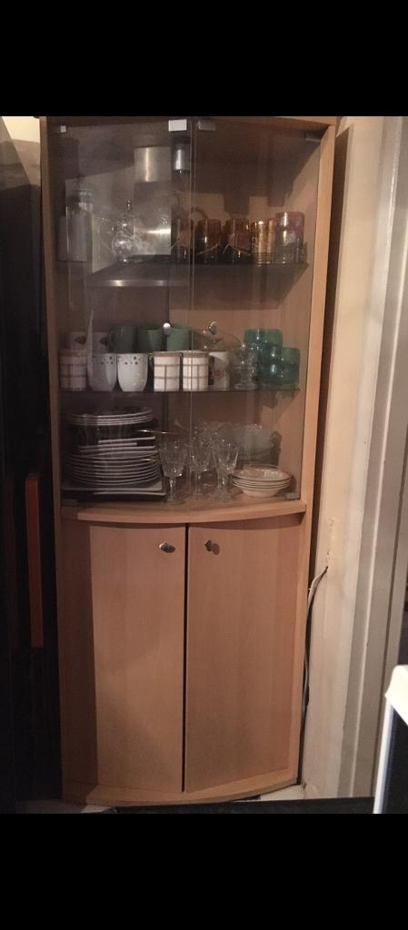 Wood Cabinetin Luton, BedfordshireGumtree - Wood cabinet for sale, in great condition, also has a light side it which can be turned on and off