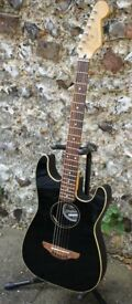 Fender Stratacoustic - electro acoustic guitar. Black with Fishman Classic 4 preamp