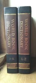 WORLD BOOK DICTIONARY - in 2 volumes