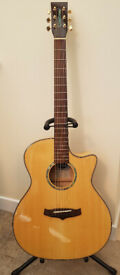 Tanglewood Evolution IV Exotic TVC XFM Electro Acoustic Flame Maple + Hard Case