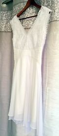 12. White lacy dress - Coast - Size 10 - Asking Price £20 ono
