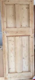 Solid interior door reclaimed