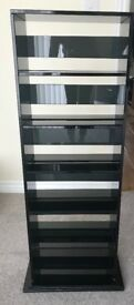 Solid black glass unit ideal for books/cd/dvd storage