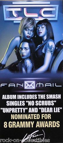 TLC 1999 Fanmail Original Double Sided Banner Style Promo Poster