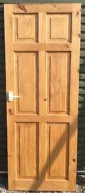 Pine panel internal door 760mm x 1974mm