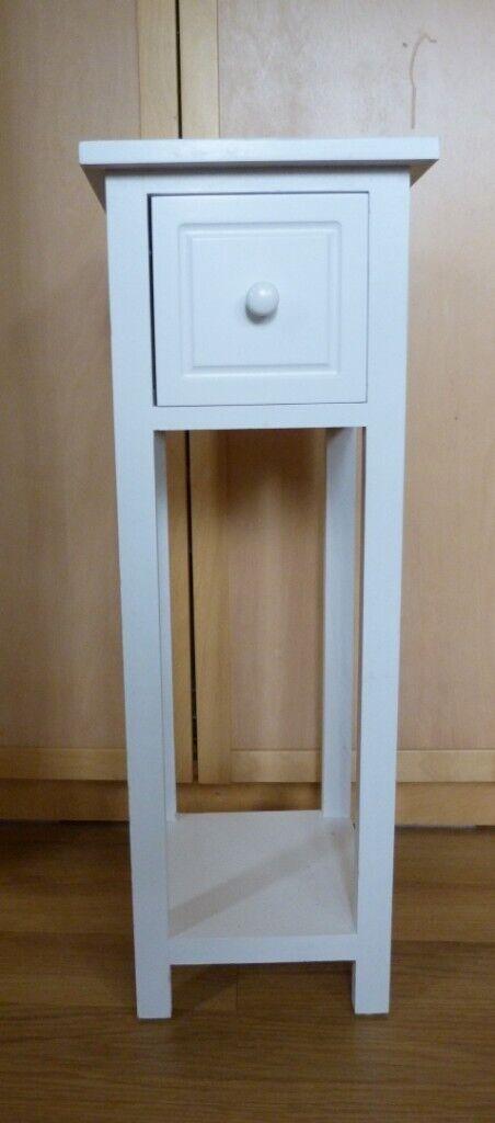 Slim Tall White Bedside Telephone Plant