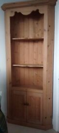 Solid Pine Corner Display Unit