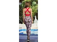 Women Yoga Dance Sports Fitness Overalls Bodysuit