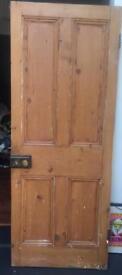 Victorian internal stripped pine door