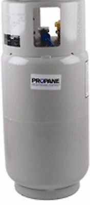 Forklift Propane Tank Lp Lpg - New 33.5 Lb With Gauge - Steel Pre Purged