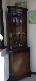 Mahogany style Corner Cabinet