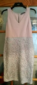 Ladies pink and silver dress size 12