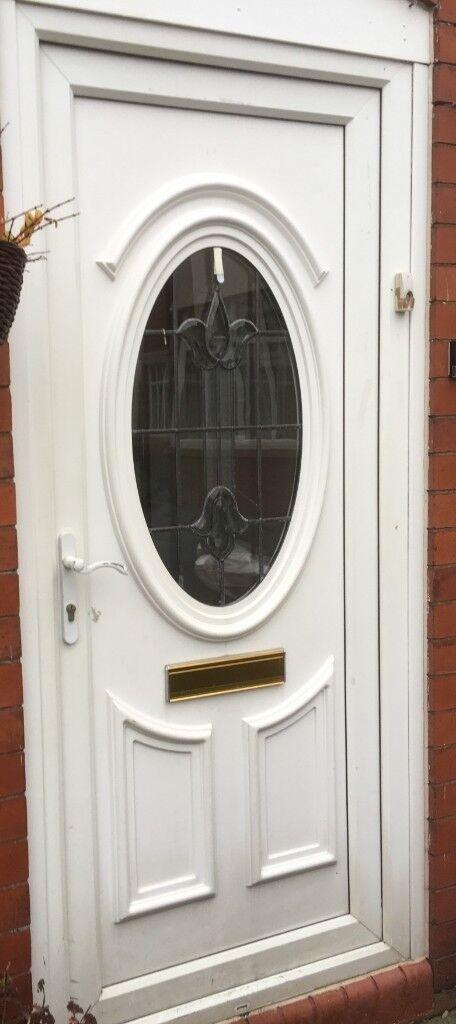 Used Front Door White Front Door Including Frame Height 197 X 84