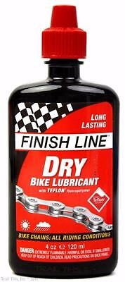 - Finish Line Dry Teflon Bike Chain Lube / Lubricant All Condition - 4oz (120ml)