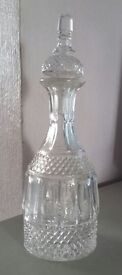 Brandy Decanter Crystral set used in excellent condition