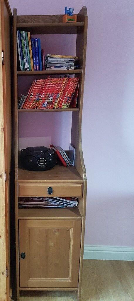 Slim Tall Bookcase Cabinet Leksvik Ikea