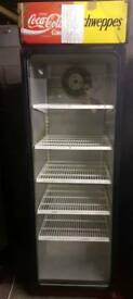 Commercial glass door upright chiller fully working with guaranty