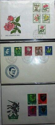 Briefmarken Schweiz Pro Juventute, 3 FDC